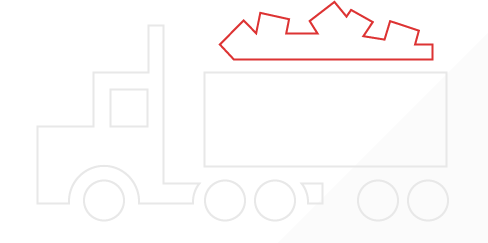 An icon depicting a dump truck